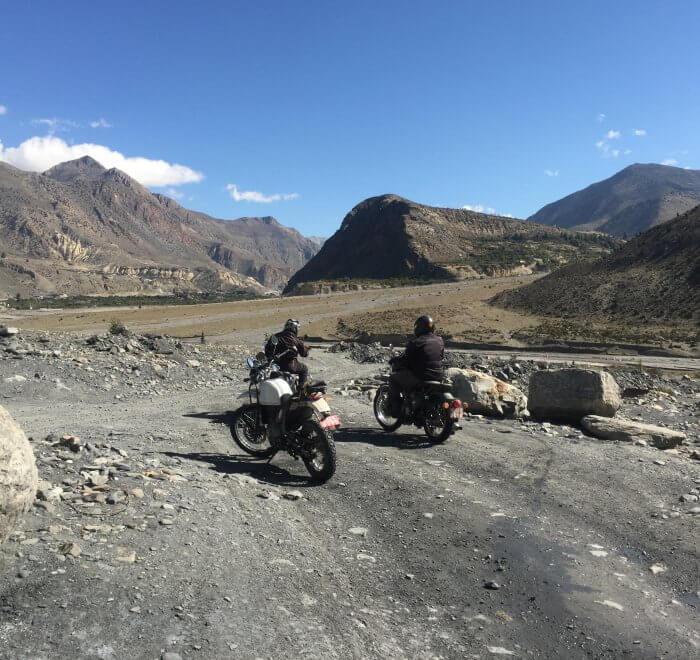 Motorcycle Ride road trip to Manang