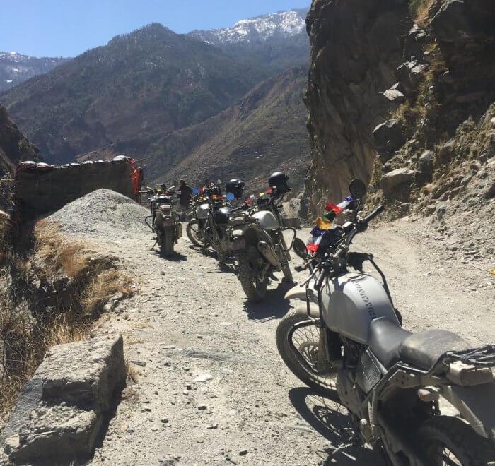 Road to Mustang motorbike