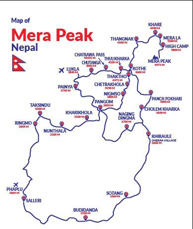 Climbing Mera Peak Route Mao